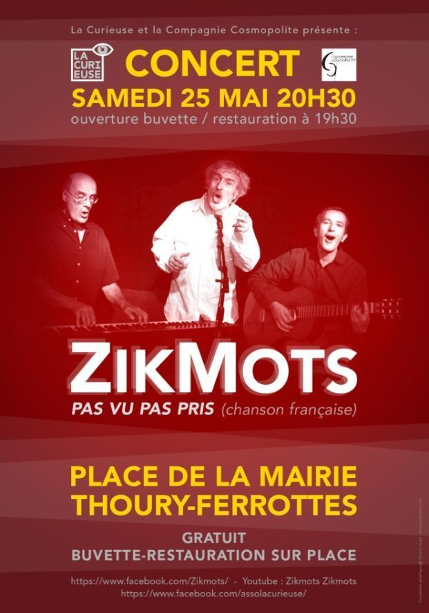 Affiche concert Zikmots